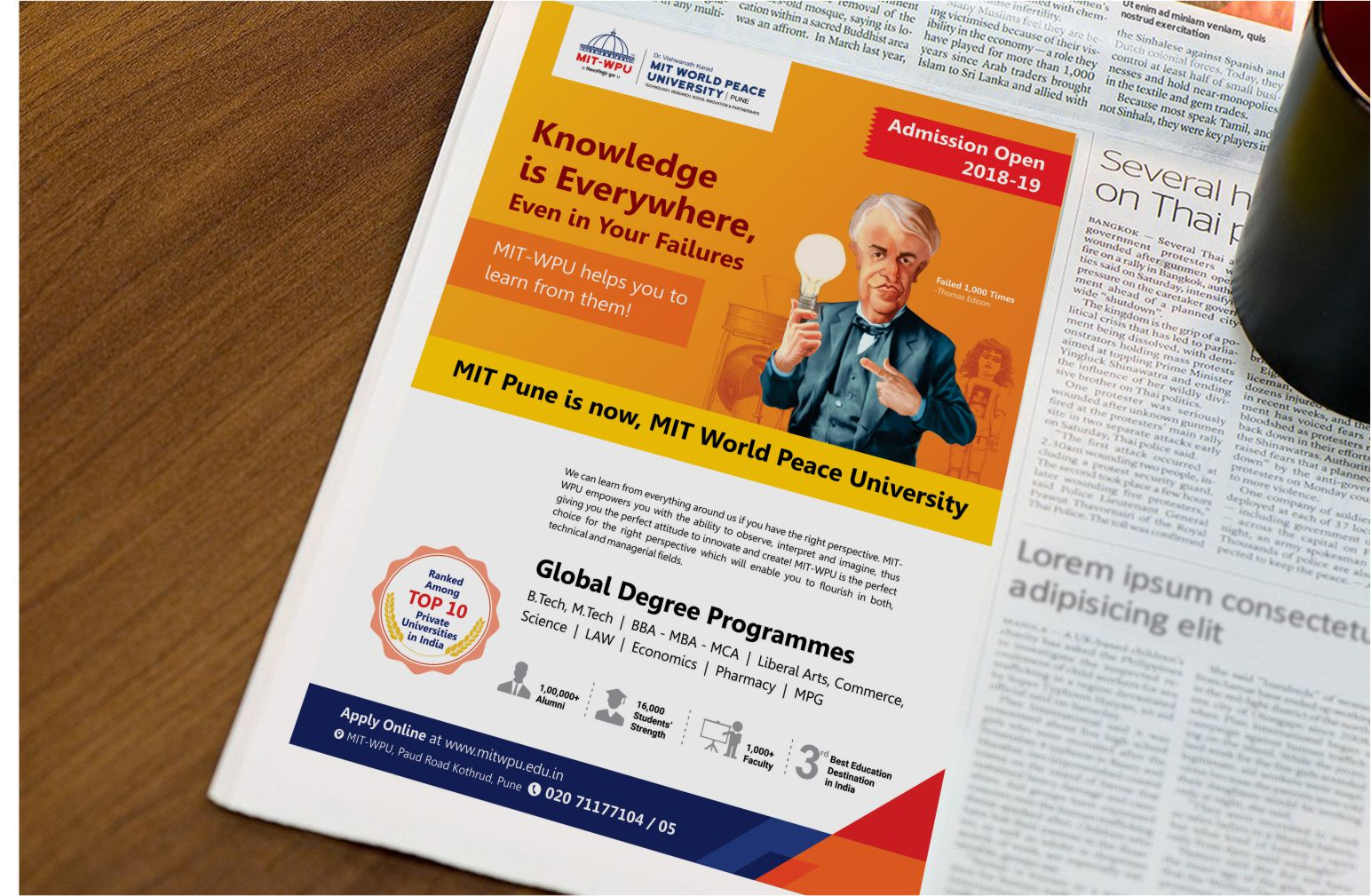 onezeroeight-mit-casestudy-newspaper-campaign-knowledge-is-everywhere-thomas-edison